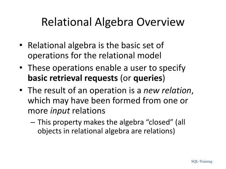 Relational Algebra Overview