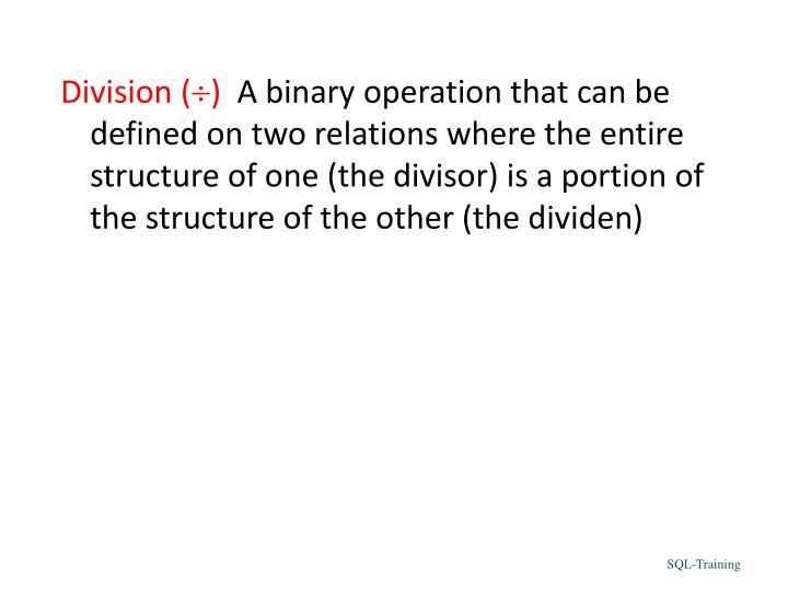 Division (