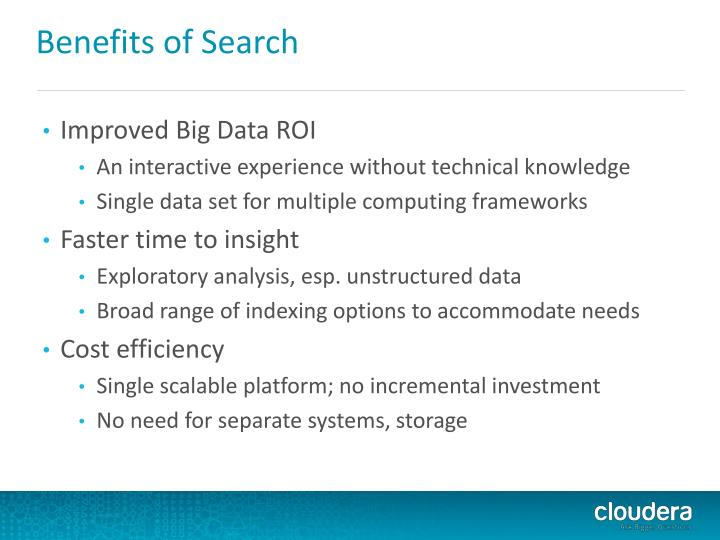 Benefits of Search