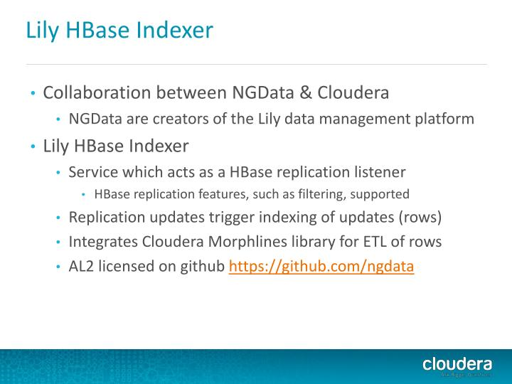 Lily HBase Indexer