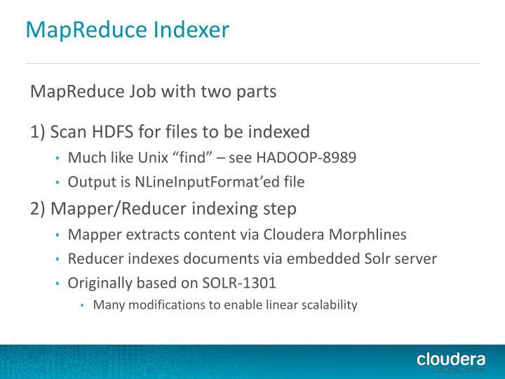 MapReduce Indexer