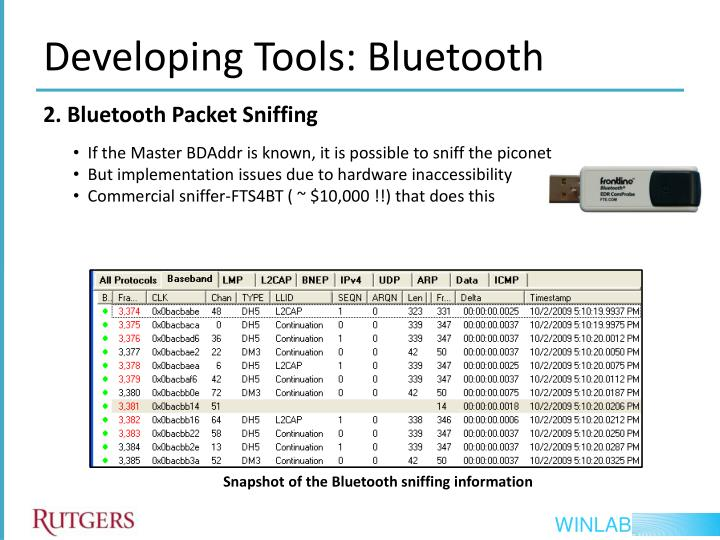 Bluetooth Sniffing