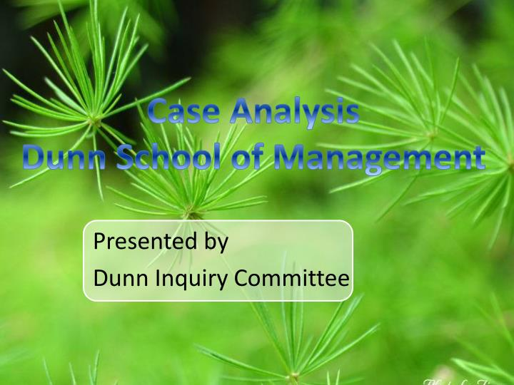 presented by dunn inquiry committee n.