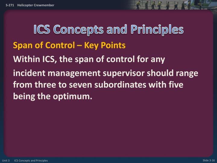 ICS Concepts and Principles