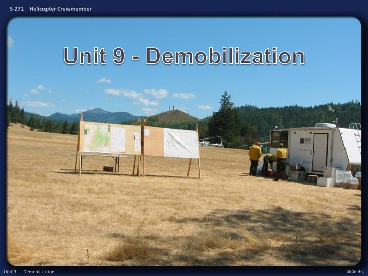 unit 9 demobilization n.