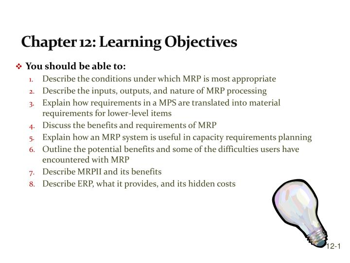 chapter 12 learning objectives n.