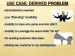 use case derived problem