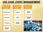 use case event management