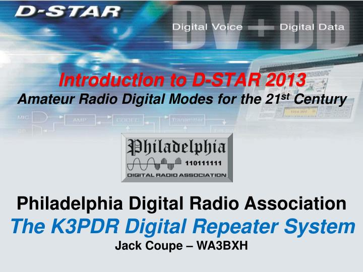 introduction to d star 2013 amateur radio digital modes for the 21 st century n.