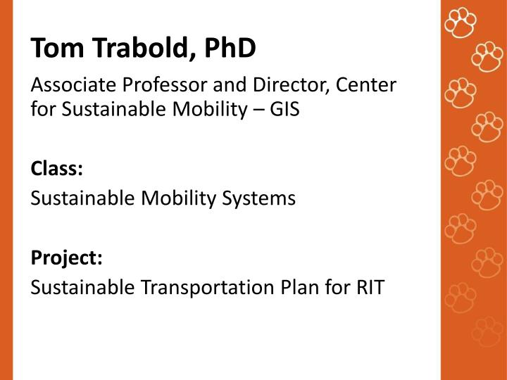 Tom Trabold, PhD