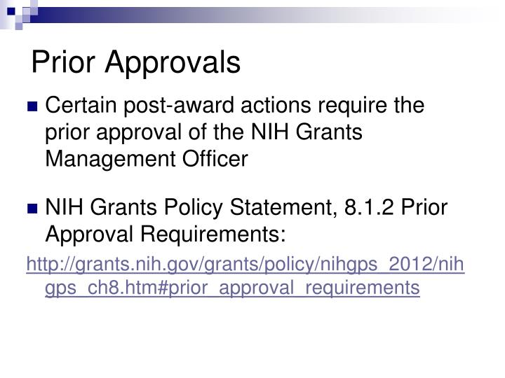 Prior Approvals