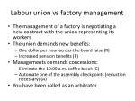 labour union vs factory management