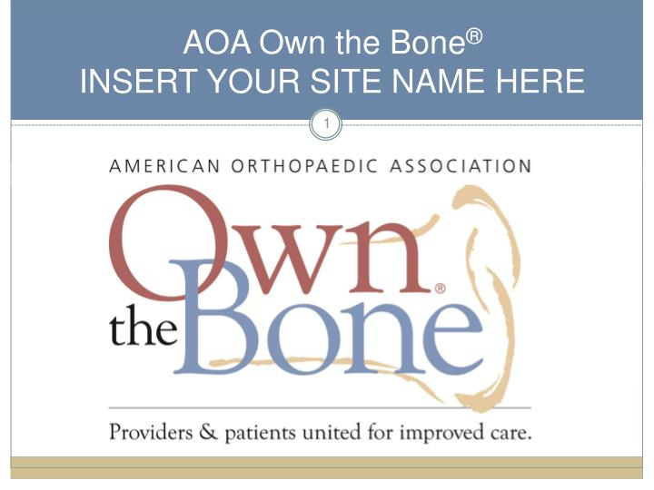 aoa own the bone insert your site name here