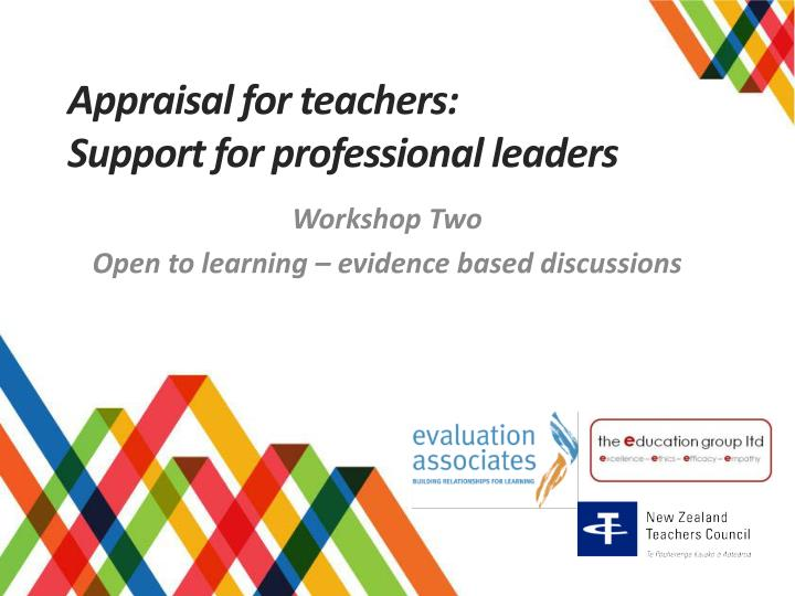 appraisal for teachers support for professional leaders n.