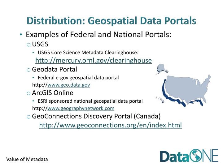 Distribution: Geospatial Data Portals