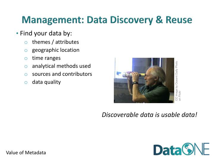 Management: Data Discovery & Reuse