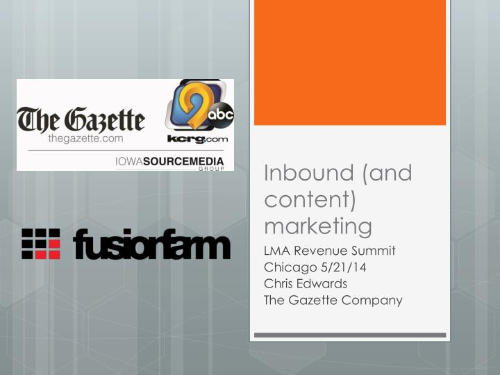 inbound and content marketing n.