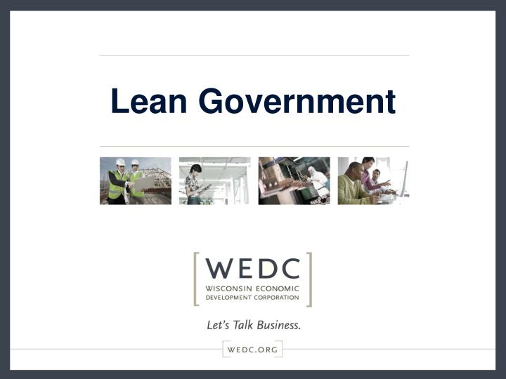 lean government n.