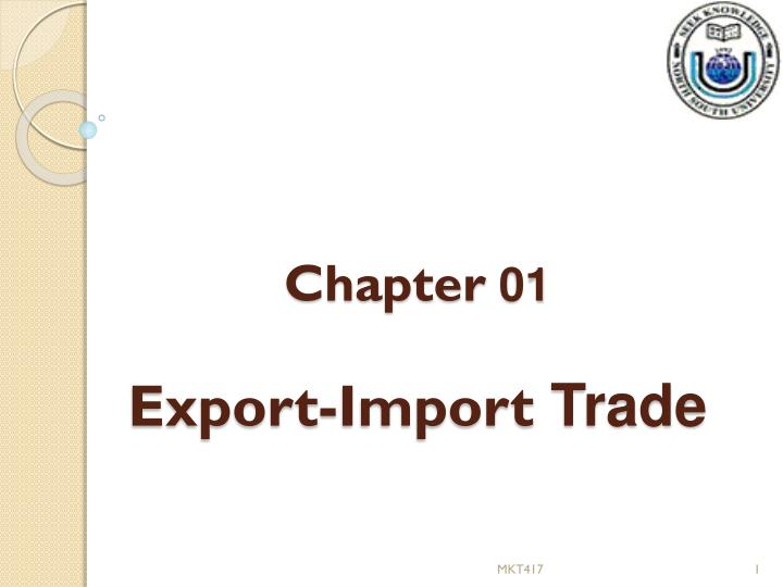 chapter 01 export import trade n.
