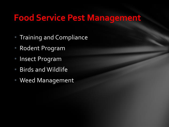 Food service pest management