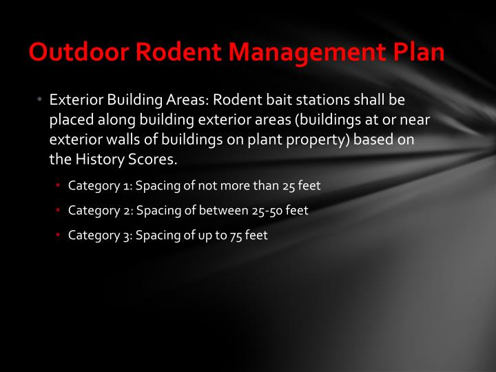 Outdoor Rodent Management Plan