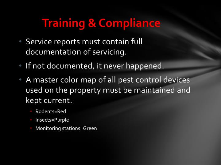 Training & Compliance
