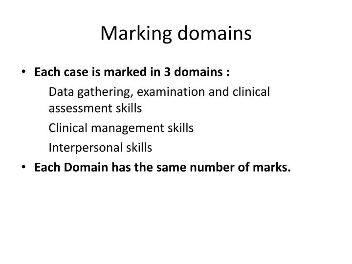 Marking domains