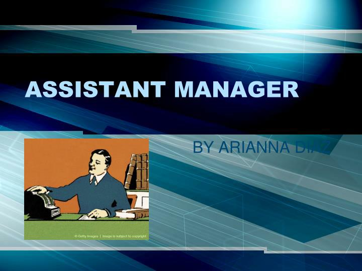 assistant manager n.