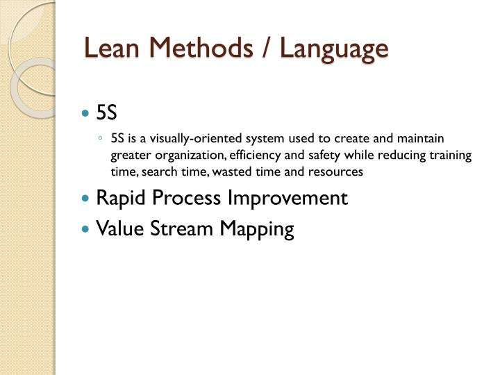 Lean Methods