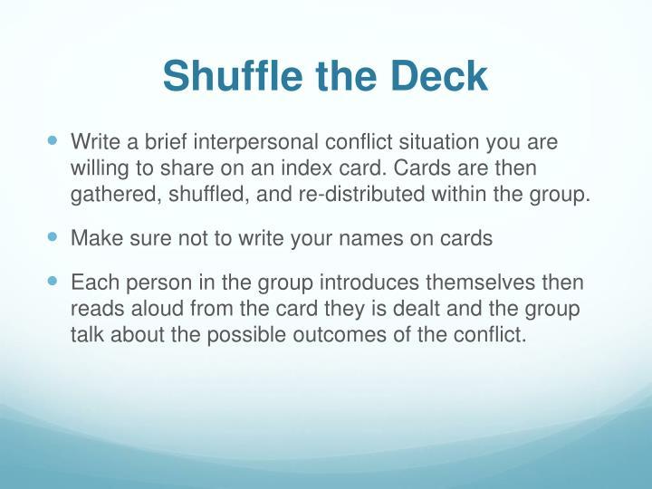 Shuffle the Deck