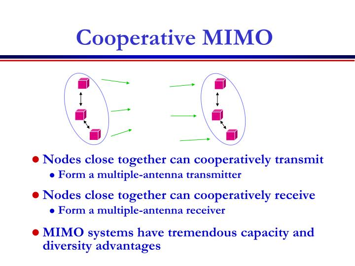 Nodes close together can cooperatively transmit