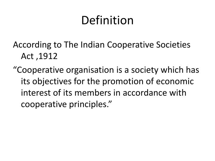 cooperative organisation