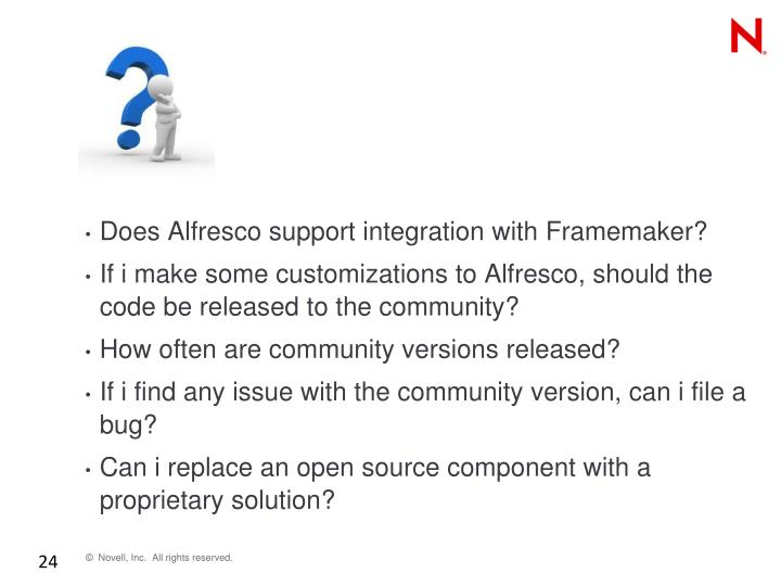 Does Alfresco support integration with
