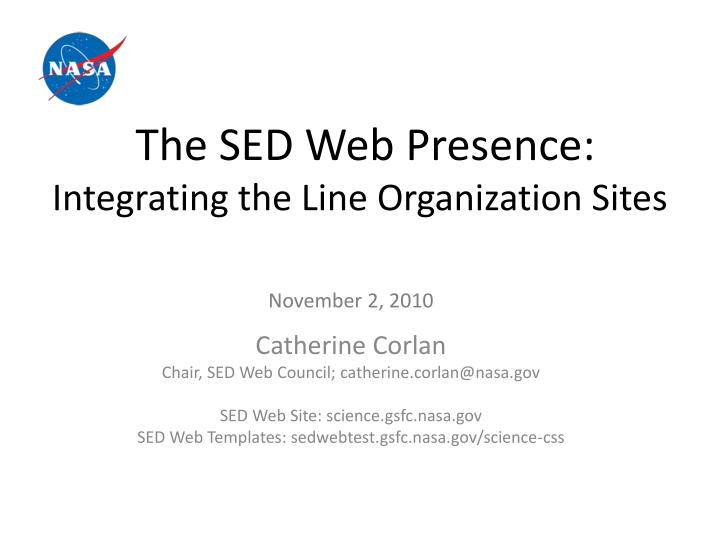 the sed web presence integrating the line organization sites n.