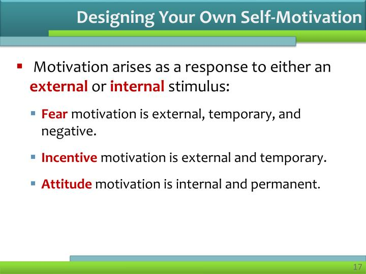 Designing Your Own Self-Motivation