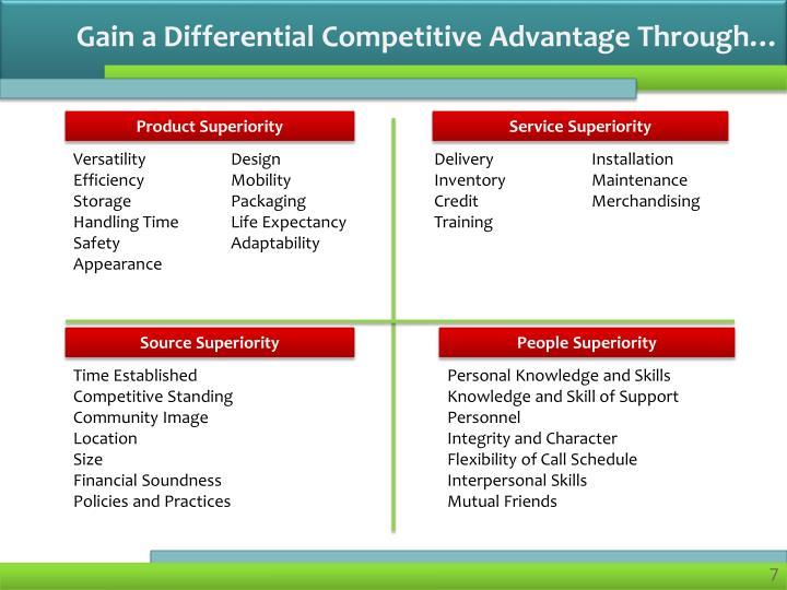 Gain a Differential Competitive Advantage Through…