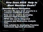 how does agis help to meet nextgen goals1