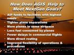 how does agis help to meet nextgen goals2