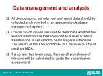 data management and analysis