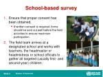 school based survey