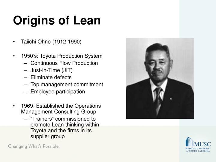Origins of Lean