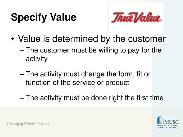 Specify Value