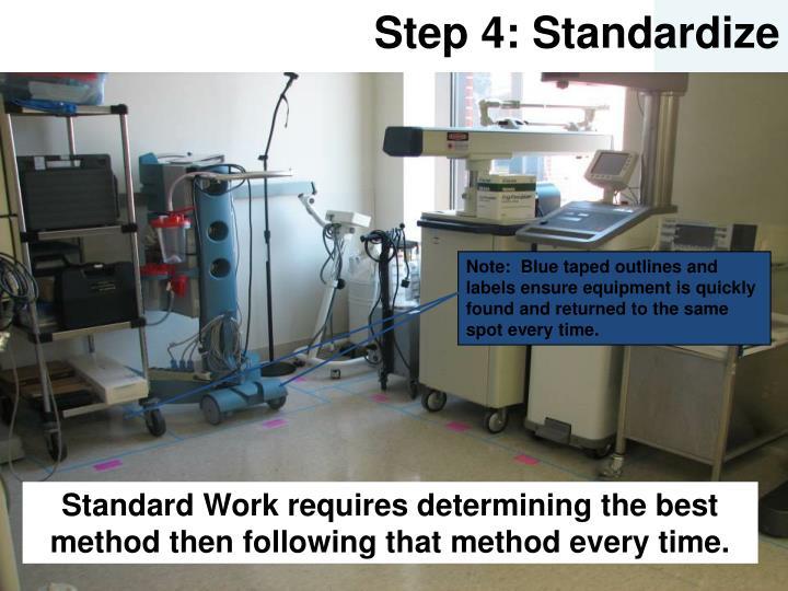 Step 4: Standardize
