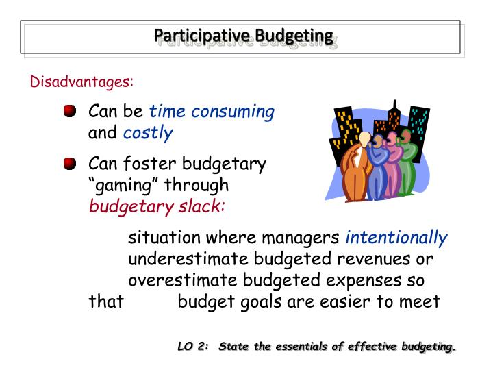 participative budgeting advantages and disadvantages