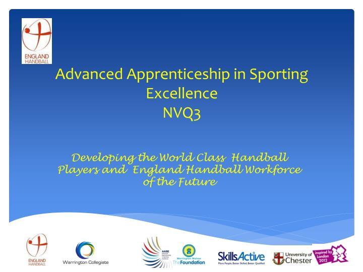 advanced apprenticeship in sporting excellence nvq3 n.