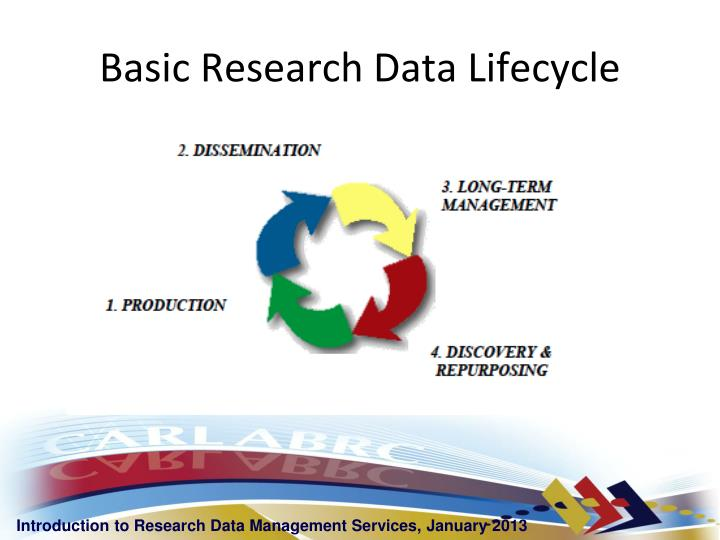Basic research data lifecycle