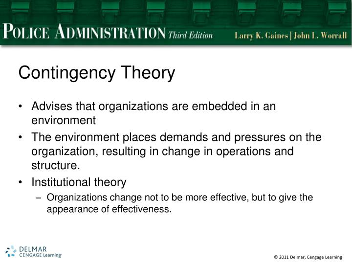 contingency theory of organization
