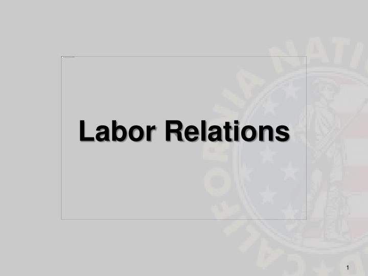 labor relations n.