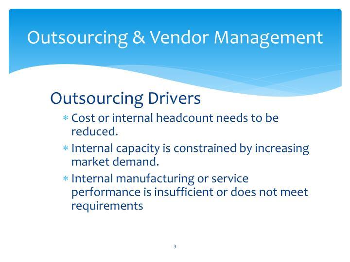 Outsourcing vendor management1