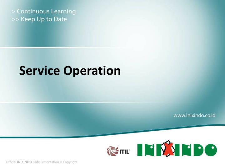 service operation n.